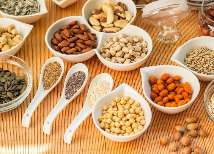 nuts and seeds are high in protein